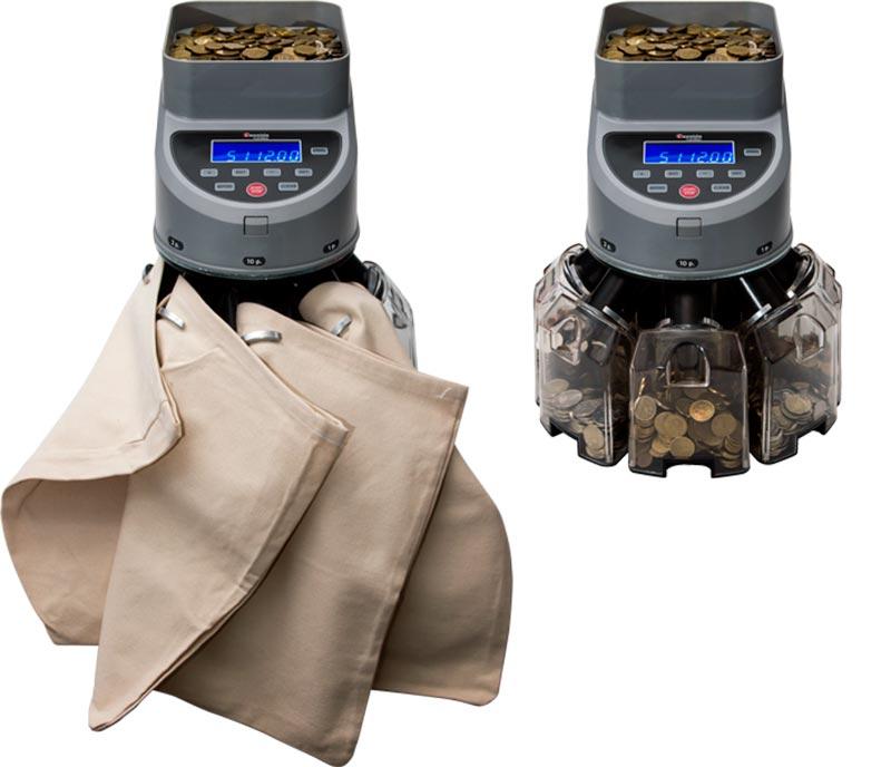 лоток и мешок сортировщика монет cassida coinmax