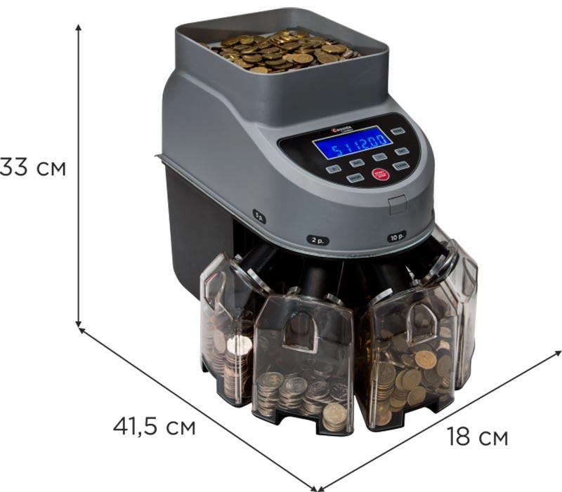 размеры сортировщика монет cassida coinmax